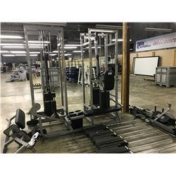 STAR TRAC DUAL UNIVERSAL COMMERCIAL CABLE PULL GYM MACHINE WITH ACCESSORIES