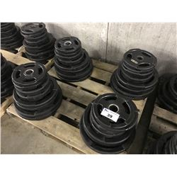 PALLET OF BARBELL PLATES