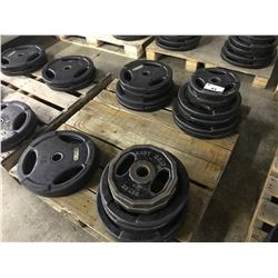 2 PALLETS OF BARBELL PLATES