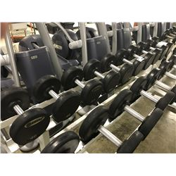 RACK WITH LARGE QUANTITY OF WEIGHTS