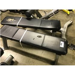 2 HAMMER STRENGTH FLAT BENCHES, CONDITION ISSUES