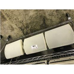 3 BSI-870 100 WATT SPEAKERS, WHITE