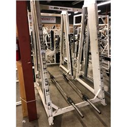 BODY MASTERS SQUAT RACK WITH BARS