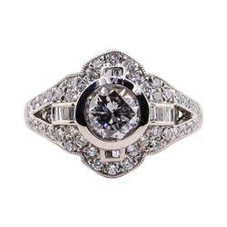 1.06 ctw Diamond Ring - Platinum