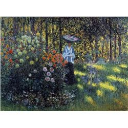 Claude Monet - Woman with a Parasol in the Garden of Argenteuil