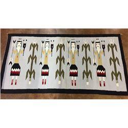 Vintage Navajo Pictorial Textile