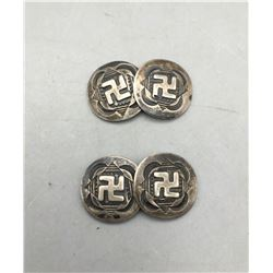 Whirling Log Cuff Links