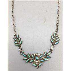 Vintage Zuni Needle Point Necklace