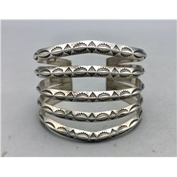 Vintage Five Row Triangle Wire Bracelet
