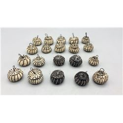 Group of Twenty Miniature Horse Hair Baskets