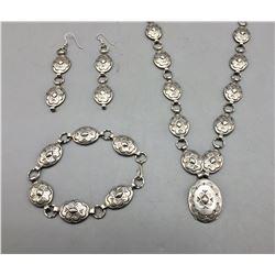 Unique Vintage Sterling Silver Necklace Set