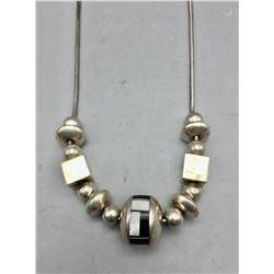 Sterling Silver and Inlay Necklace
