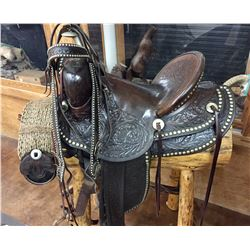 Fancy Fred Mueller Saddle and Bridle