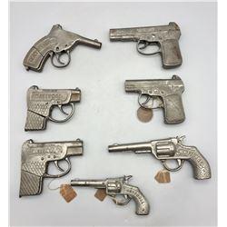 Group of 7 Rare National Cap Guns