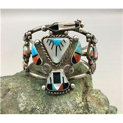 Zuni Inlay Thunderbird Bracelet