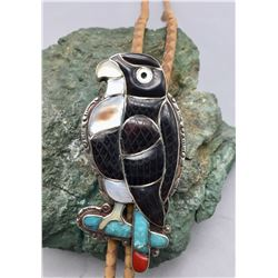 Zuni Inlay Hawk Bolo