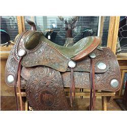Fancy F.O. Baird Saddle With Tapaderos