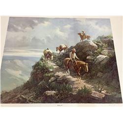 Signed Olaf Wieghorst Limited Edition Print