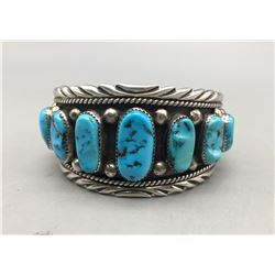 Nine Stone Vintage Turquoise Bracelet