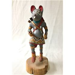 Mouse Warrior Kachina by Silas Roy