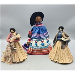 Three Handmade Dolls