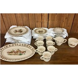 Vintage Rodeo Plate Set by Wallace China