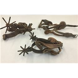 Three Pairs of Old Spurs