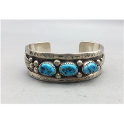 Three Stone Turquoise Bracelet