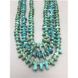 Great Old Three-Strand Turquoise Necklace