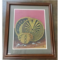 Micheal Chiago Painting Framed