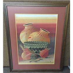 Large Michael Chiago Painting Framed