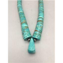 Stunning Turquoise Disc Bead Necklace