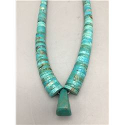 Turquoise Disc Bead Necklace