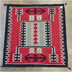 Ganado Storm Pattern Navajo Textile
