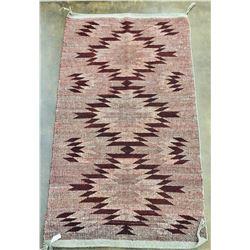Unique Twill Weave Navajo Textile