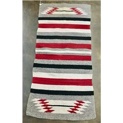 Vintage Navajo Double Saddle Blanket Textile