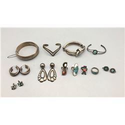 Group of Miscellaneous Sterling Silver Jewelry