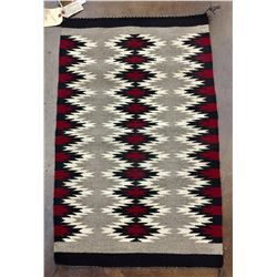 Navajo Textile with Weavers Picture