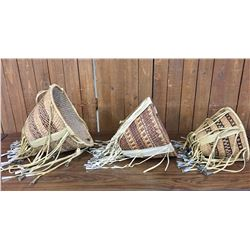 Group of Apache Burden Baskets