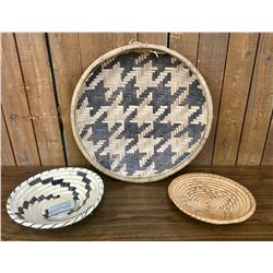 Group of Three Native American Baskets