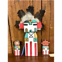 Three Hopi Flat Dolls