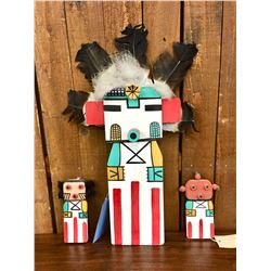 Three Hopi Flat Dolls