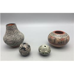 Group of Four Fine Handmade Pots