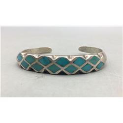 Vintage Turquoise Inlay Bracelet