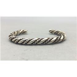 Vintage Twisted Wire Sterling Silver Bracelet