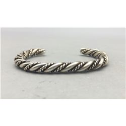 Vintage Twisted Wire Sterling Silver Bracelet