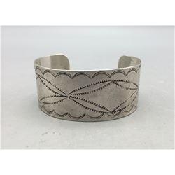 Vintage Hand Stamped Silver Bracelet