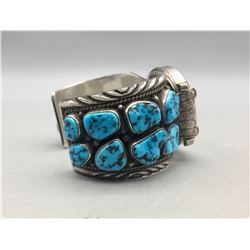Vintage 16 Stone Turquoise Watch Bracelet
