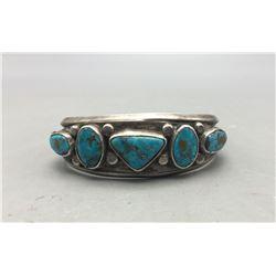 1950s Five Stone Turquoise Bracelet