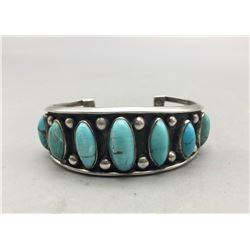 Vintage Seven Stone Turquoise Bracelet